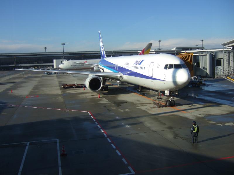 DSCF3817 2009年1月ANA1081便成田発台北行きビジネスクラス